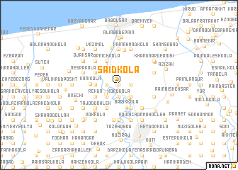 map of Sa'īd Kolā