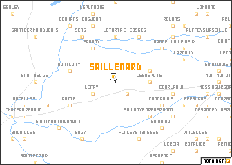 map of Saillenard