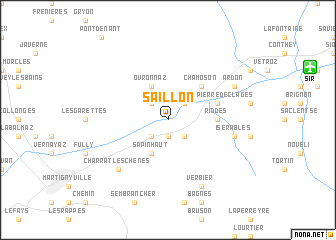 map of Saillon