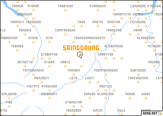 map of Sainggaung