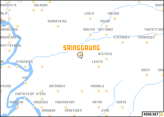 map of Sainggaung