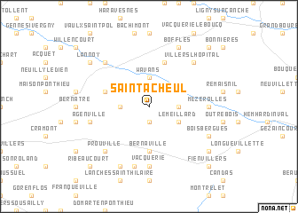 map of Saint-Acheul
