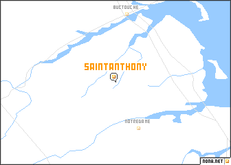 map of Saint Anthony