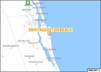 map of Saint Augustine Beach