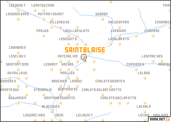 map of Saint-Blaise