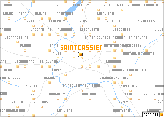 map of Saint-Cassien