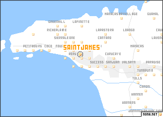 Saint James Trinidad and Tobago map nonanet