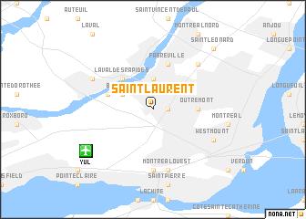 SaintLaurent Canada map nonanet