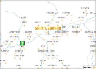 map of Saint-Léonard