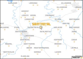 map of Saint-Noyal