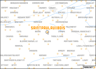 map of Saint-Paul-aux-Bois