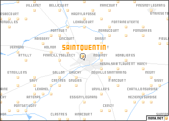 Map Of Saint Quentin France.Saint Quentin France Map Nona Net