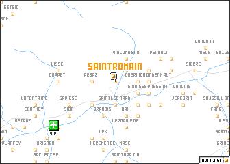 map of Saint-Romain