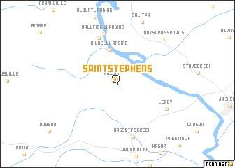 map of Saint Stephens