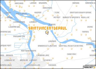 map of Saint-Vincent-de-Paul