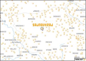 map of Šajnov Kraj