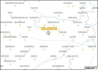 map of Sajówka