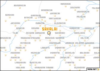map of Sakalai