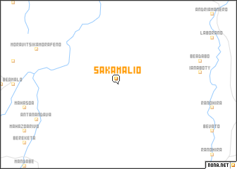 map of Sakamalio