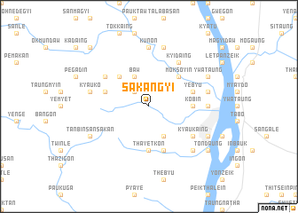 map of Sakangyi