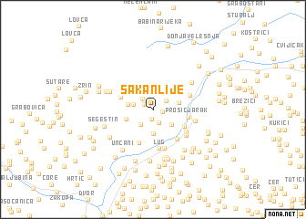 map of Šakanlije