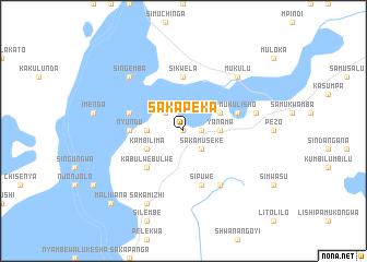 map of Sakapeka