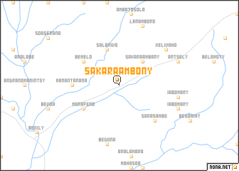 map of Sakara Ambony