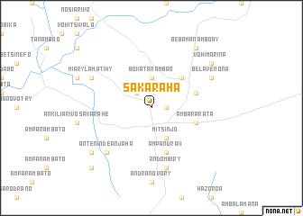 Sakaraha (Madagascar) map - nona.net