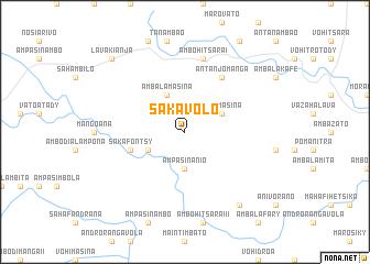 map of Sakavolo