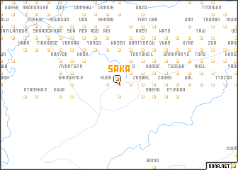map of Saka