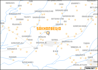 map of Sakharbedio