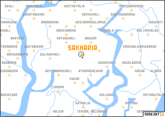 map of Sākhāria