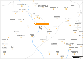 map of Saki Mowa