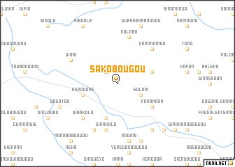 map of Sakobougou