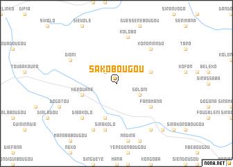 map of Sakobougou