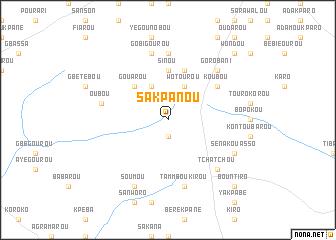 map of Sakpanou