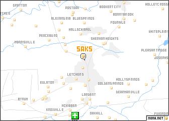 map of Saks
