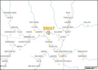 map of Sakut