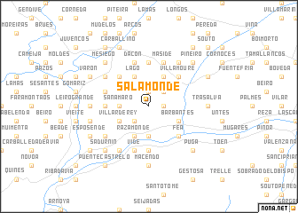 map of Salamonde