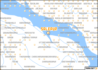 map of Sālepur