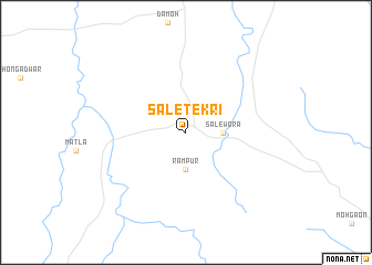 map of Sāletekri
