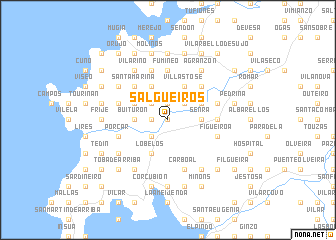 map of Salgueiros