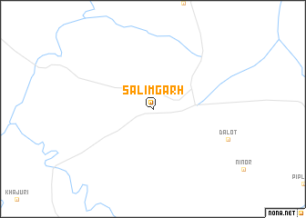 map of Sālimgarh
