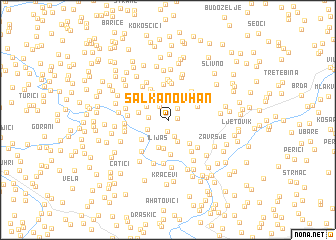 map of Salkanov Han