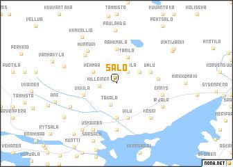 Salo Finland map nonanet