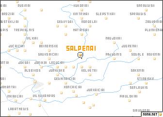 map of Šalpėnai