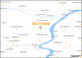 map of Saltykovo