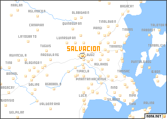 map of Salvacion