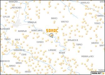 map of Šamac