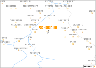 map of Samakova